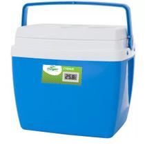 Caixa térmica de 34 litros AZUL com termômetro digital - Mor