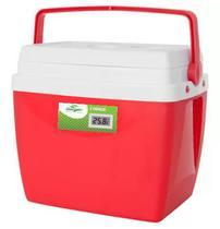 Caixa térmica de 34 litros VERMELHA com termômetro digital - Mor