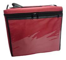 Caixa Térmica De Isopor Laminada Com Capa 45 Litros Vermelha - Abadecobags