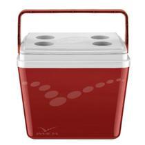 Caixa Térmica Pop 34L Vermelha Velvet Invicta -