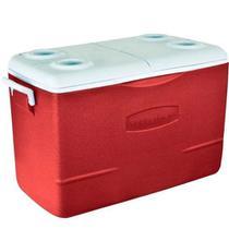 Caixa térmica rubbermaid 50qt ( 47.3lts) vermelha -