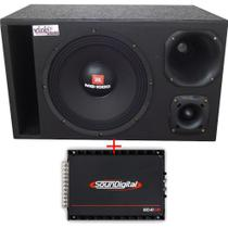 Caixa Trio 100%  Selenium Mg-1000 12 Pol + D200 + St200 + Módulo Soundigital - Vinisound