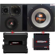 Caixa Trio 100%  Tornado 15swt3000 15 Pol + D250x + St200 + Mg-600 + Módulos Soundigital - Vinisound