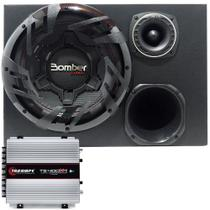 Caixa Trio Amplificada Bomber Carbon + Kit Bravox + TS400X4 - Cia do som