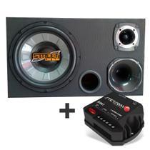 Caixa Trio Dutada 400w Rms Driver + Tweeter + Modulo DS160.2 - Multi Marcas