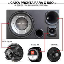 Caixa Trio Pioneer 350w Sub 12 Cara Preta Completa Driver + Módulo - Vinisound