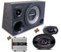 Caixa Trio Pioneer + 6x9 Pioneer +  Modulo Tl 1500 Taramps - Oestesom