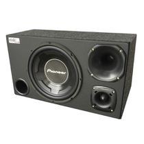 Caixa Trio Pioneer Sub 12 Cara Preta 600w Rms Dupla D4 Completa - Vinisound