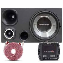 Caixa Trio Pioneer Sub 12 Ts-W3060Br + Amplificador Stetsom -