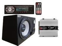 Caixa Trio Som Amplificada + Radio Mp3 +Modulo Tl1500 - Multi Marcas