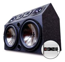 Caixa Trio Som Carro Radio Bluetooth Usb + Modulo Taramps - Oestesom