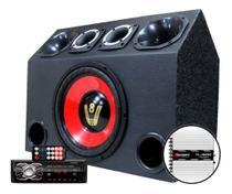 Caixa Trio Som Falante 12 Radio Bluetooth Usb Modulo Taramps - Oestesom