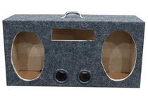 Caixa Vazia Ativa 2 De 6x9 Polegadas + Alça + Furo Radio - Oestesom