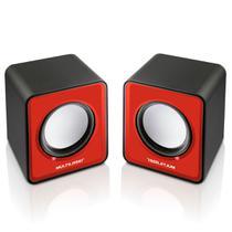 Caixas De Som 2.0 Portátil 3w Rms Vermelho Sp197 Multilaser -