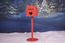 Caixinha De Correio Caixa Para Cartas Cenário De Natal Props ensaio fotográfico - Bee Props
