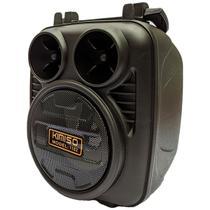 Caixinha De Som Com Bluetooth Portátil Rádio Fm Sd Usb Preto - Kimiso
