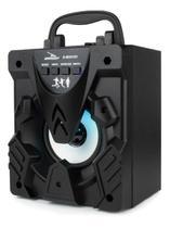 Caixinha De Som Portátil Bluetooth Rádio Fm Usb Led Aux P2 - Grasep