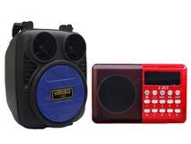 Caixinha de Som Wireless e Rádio Altomex Portátil Bluetooth Fm Kit - Kimiso