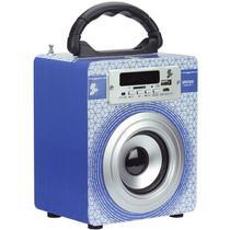 Caixinha Som Nêmesis 5+ Bluetooth Super Bass Original Spk-6 5W USB - Azul - NEMESIS 5