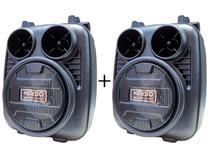 Caixinhas De Som Portátil Bluetooth FM Cartão USB MP3 Média LED Kit - Kimiso