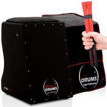 Cajón Acústico  02 Vassourinhas  Capa Protetora - Witler Drums