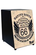 Cajón Acústico Estampa Route 66 NobreTOK Modelo 306 - Nobre Tok