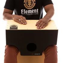 Cajón De Colo Elétrico Witler Drums Black  Tampa Natural -