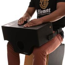 Cajón De Colo Witler Drums Acústico Black  Tampa Black -