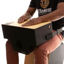Cajón De Colo Witler Drums Acústico Black  Tampa Natural -