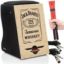 Cajón Elétrico  02 Vassourinhas  02 Cabos  Jack Daniels - Witler Drums