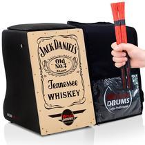 Cajón Elétrico  Bag Case  02 Vassourinhas - Jack Daniels - Witler Drums