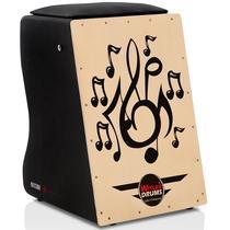 Cajón Elétrico Claro Inclinado  Musical  Witler Drums -
