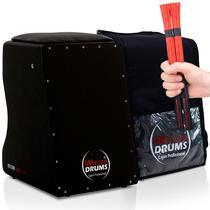 Cajón Elétrico Inclinado  Bag Case  02 Vassourinhas Black - Witler Drums