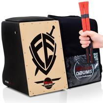 Cajón Elétrico Inclinado  Bag Case  02 Vassourinhas Fé - Witler Drums