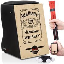 Cajón Elétrico Jack Daniels  2 Vassourinhas  2 Acessórios - Witler Drums