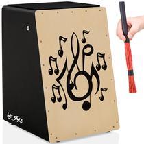 Cajón Elétrico WD Style  01 Vassourinha - Notas Musicais - Witler Drums