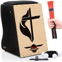 Cajón Eletroacústico  02 Vassourinhas  Acessórios - Witler Drums
