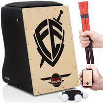 Cajón Eletroacústico  2 Vassourinhas  2 Acessórios  Fé - Witler Drums