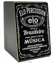 Cajón Elo Cajones Inclinado EL505A Whisky com Assento Emborrachado Mais Largo e Tampo em Paricá - Cajón Percussion