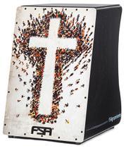 Cajón FSA Gospel Series Cruz FG1506 com Dupla Captação Ativa e Assento em E.V.A. - Fsa Cajóns