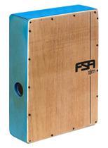 Cajón FSA Slim Series CSL604 Azul Elétrico Compacto com Excelente Sonoridade - Fsa Cajóns