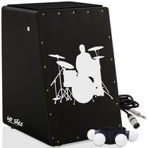 Cajón Style Eletroacústico  Canela  Cabo - Personalizáveis - Witler Drums