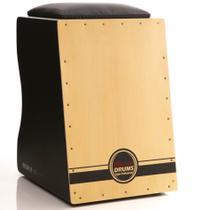 Cajón Tradicional Pro Elétrico Inclinado Black  Natural - Witler Drums