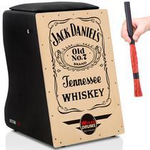 Cajón Witler Drums Acústico  01 Vassourinha  Jack Daniels -