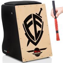 Cajón Witler Drums Eletroacústico  01 Vassourinha  Fé -