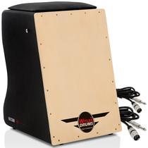 Cajón Witler Drums Eletroacústico  02 Cabos -