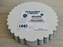 Cake Board Em Mdf de 3mm Para Bolo e Confeitaria Borda Ondulado Kit com 10 18cm - Tabuleiros Uno