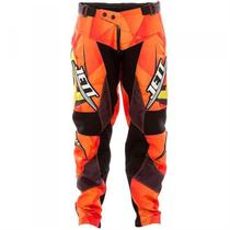 Calça Adulto Jett Lite Motocross Laranja Pro Tork -