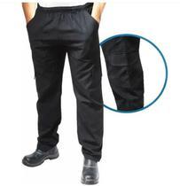 Calca brim cargo 6 bolsos uniforme profissional - Grupo Hm
