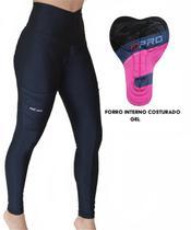 Calça Ciclismo MTB Be Fast Preta Calca Forro de Gel Feminina -